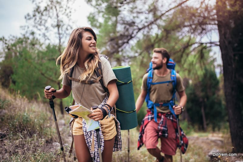 couple on nature excursion